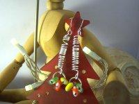 遊び心たっぷりのカラフル揺れるピアス 【カラー・グリーン】【カラー・イエロー】【カラー・レッド】【カラー・マルチ】