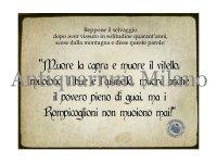 イタリア語パネル ベッポーネは言った… Beppone il selvaggio dopo aver... 【カラー・ブラック】