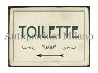 イタリア語パネル お手洗い TIOLETTE 【カラー・グリーン】