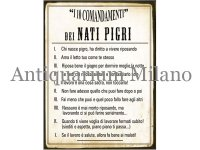 イタリア語パネル やる気の無い人の10か条 NATI PIGRI 【カラー・イエロー】