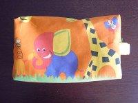 Ciuccio Milano イタリア製ベビーアイテム おむつポーチ ポケット付き ファスナー開閉【カラー・オレンジ】【カラー・グリーン】