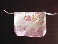Ciuccio Milano イタリア製ベビーアイテム 巾着袋 コットン100%【カラー・ピンク】