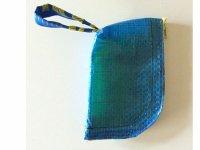 IKEARTE イタリア製イケアのガジェット ナイロン小物入れポーチ 【カラー・ブルー】