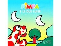 イタリア語で絵本、ピンパを読む Pimpa e le due lune 対象年齢1歳以上【A1】