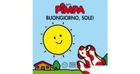 イタリア語で絵本、ピンパを読む Pimpa. Buongiorno, sole! 対象年齢0歳以上【A1】