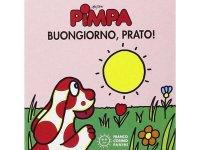 イタリア語で絵本、ピンパを読む Pimpa. Buongiorno, prato! 対象年齢0歳以上【A1】