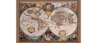 17世紀の世界地図 マップ 91 x 61 cm