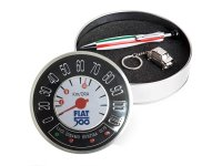 イタリア キーホルダー ボールペンセット FIAT 500 cinquecento【カラー・ブラック】