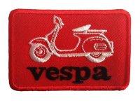 イタリア 刺繍ワッペン Vespa 【カラー・ホワイト】【カラー・レッド】【カラー・ブラック】