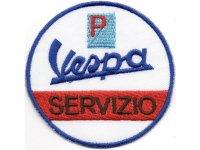 イタリア 刺繍ワッペン Vespa【カラー・ホワイト】【カラー・ブラック】【カラー・ レッド】【カラー・ ブルー】