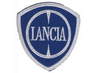 イタリア 刺繍ワッペン LANCIA【カラー・ホワイト】【カラー・ ブルー】