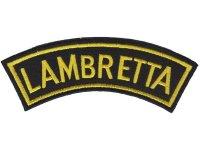 イタリア 刺繍ワッペン LAMBRETTA 【カラー・ブラック】【カラー・イエロー】