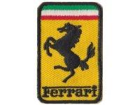 イタリア 刺繍ワッペン Ferrari【カラー・イエロー】【カラー・ホワイト】【カラー・レッド】【カラー・グリーン】