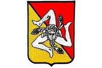 イタリア 刺繍ワッペン シチリア トリナクリア 【カラー・イエロー】【カラー・レッド】