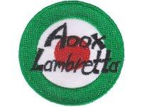 イタリア 刺繍ワッペン Aoox Lambretta【カラー・ホワイト】【カラー・ブラック】【カラー・ レッド】【カラー・ グリーン】