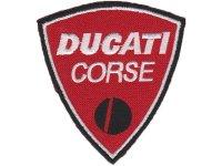 イタリア 刺繍ワッペン DUCATI CORSE【カラー・ホワイト】【カラー・レッド】【カラー・ブラック】