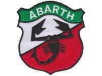 イタリア 刺繍ワッペン ABARTH 【カラー・ホワイト】【カラー・レッド】【カラー・グリーン】