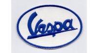 イタリア 刺繍ワッペン Vespa【カラー・ホワイト】【カラー・ ブルー】