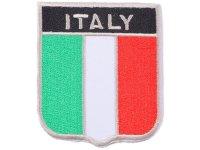 イタリア 刺繍ワッペン イタリア国旗 【カラー・ホワイト】【カラー・レッド】【カラー・グリーン】