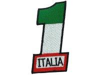 イタリア 刺繍ワッペン イタリア国旗 Corsa 1 【カラー・ホワイト】【カラー・レッド】【カラー・グリーン】