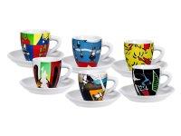 エスプレッソコーヒーカップ 6客セット Bialetti(ビアレッティ)ARTE【カラー・マルチ】