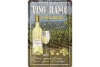 アンティーク風サインプレート イタリア 白ワイン レリーフ 30x20cm【カラー・グリーン】
