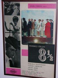 イタリア 映画 アンティークポスター 8 1/2 (1963) フェデリコ フェリーニ 50 x 70 cm