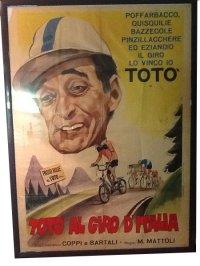 イタリア 映画 アンティークポスター Toto' al giro d'italia (1948年) トト 140 x 100 cm