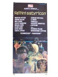 イタリア 映画 アンティークポスター FELLINI SATYRICON (1969) サテリコン フェデリコ フェリーニ 33 x 70 cm locandine