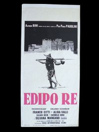イタリア 映画 アンティークポスター Edipo Re (1967年) アポロンの地獄 ピエル・パオロ・パゾリーニ アリダヴァリ 33 x 70 cm locandine