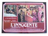 イタリア 映画 アンティークポスター L'innocente (1976年) イノセント ルキノ・ヴィスコンティ 50 x 70 cm FOTO BUSTE