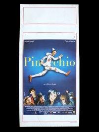 イタリア 映画 アンティークポスター Pinocchio (2002年) ピノッキオ ピノキオ ロベルト・ベニーニ ニコレッタ・ブラスキ ゴールデンラズベリー賞  33 x 70 cm locandine