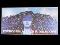 イタリア 映画 アンティークポスター La citta' delle donne (1980年) 女の都 フェデリコ・フェリーニ マルチェロ・マストロヤンニ  33 x 70 cm locandine