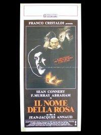 イタリア 映画 アンティークポスター  In nome della rosa 薔薇の名前 ジャン=ジャック・アノー ウンベルト・エーコ ショーン・コネリー クリスチャン・スレーター 33 x 70 cm locandine
