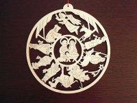 【一点限り】イタリア・クリスマスデコレーション☆イタリア製木製 【カラー・ブラウン】
