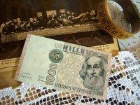 イタリアのリラ紙幣 1000リラ マルコ・ポーロ 【カラー・ブラウン】