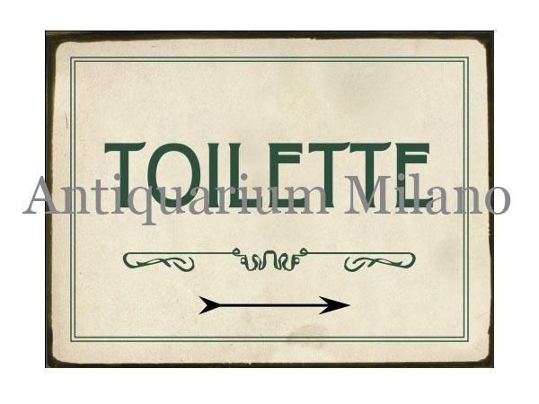 画像1: イタリア語パネル お手洗い TOILETTE 【カラー・グリー...  イタリア語パネ