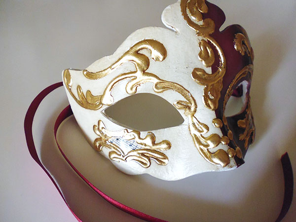 画像1: イタリア ヴェネツィア カーニバル マスク NIGHT AND DAY 【カラー・パープル】【カラー・ワイン】