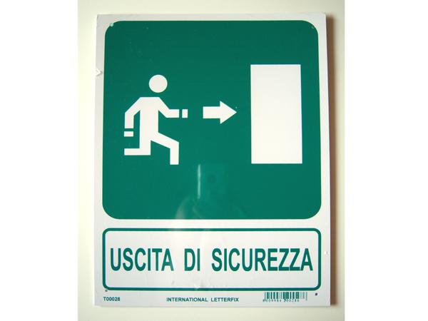 画像1: イタリア語表記 非常口 USCITA DI SICREZZA ...   イタリア語表