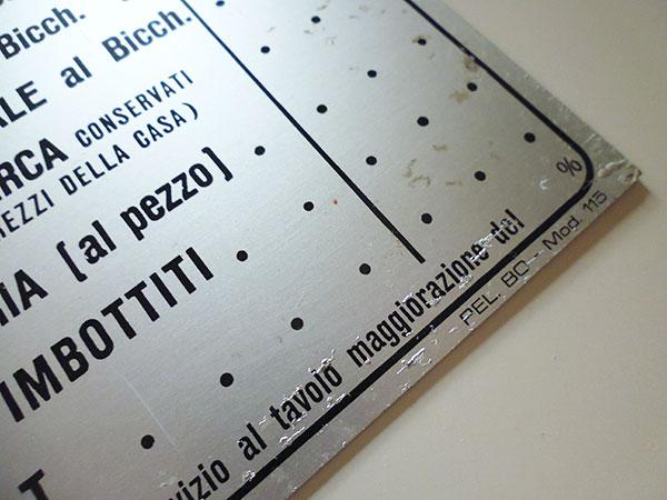 画像3: 【一点限り】イタリア Bar バールのプライスリスト 【カラー・ホワイト】