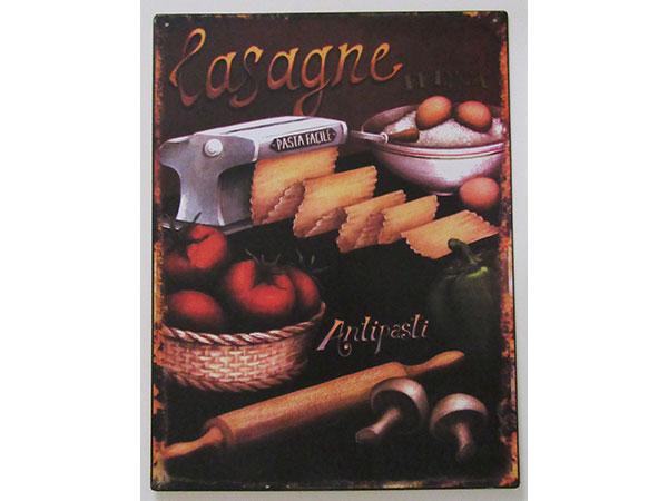 画像1: 【数量限定】アンティーク風 サインプレート ラザニア Lasagne【カラー・ブラック】【カラー・ブラウン】