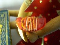 大人カジュアルに リング・指輪 【カラー・レッド】【カラー・オレンジ】