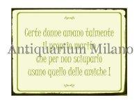 イタリア語パネル 何人かの女性は… Certe donne amano talmente … 【カラー・グリーン】