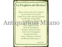 イタリア語パネル 貯蔵庫にまします我らのワインよ La Preghiera dei Bevitori 【カラー・グリーン】