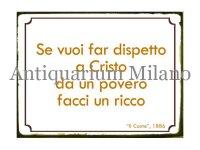イタリア語パネル もし、キリストをおちょくりたいなら… Se vuoi far dispetto a Crsito... 【カラー・イエロー】