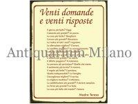 イタリア語パネル 20の質問と20の答え Venti domande e venti risposte 【カラー・レッド】