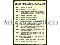 イタリア語パネル 基本的なボスの規律 Legge fondamentale del capo 【カラー・イエロー】