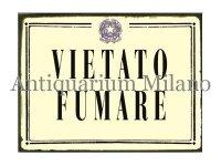 イタリア語パネル 禁煙 VIETATO FUMARE 【カラー・ブラック】