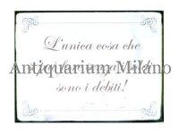 イタリア語パネル お金がなくても出来る事は… L'UNICA COSA CHE... 【カラー・ブラック】