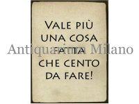 イタリア語パネル 明日の鶏より今日のたまご VALE PIU' UNA COSA FATTA CHE... 【カラー・ブラック】